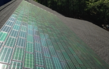 Powerhouse solar shingle install